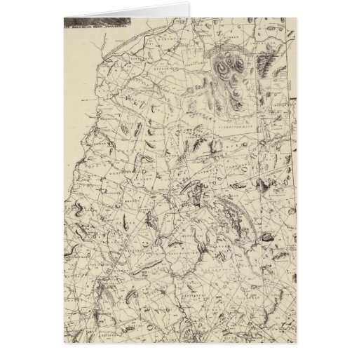 Map of New Hampshire 1816 Greeting Cards
