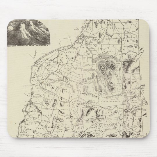 Map of New Hampshire 1816 Mouse Pad