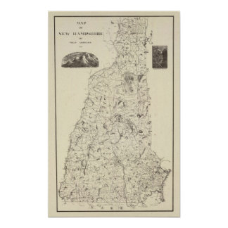 Map of New Hampshire 1816 Poster