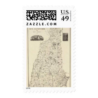 Map of New Hampshire 1816 Stamp