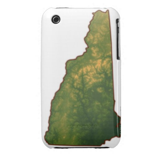 Map of New Hampshire 2 iPhone 3 Case-Mate Cases