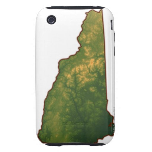 Map of New Hampshire 2 Tough iPhone 3 Cover