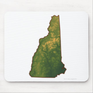 Map of New Hampshire 2 Mouse Pad