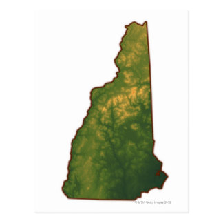 Map of New Hampshire 2 Postcard