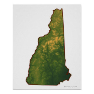Map of New Hampshire 2 Posters