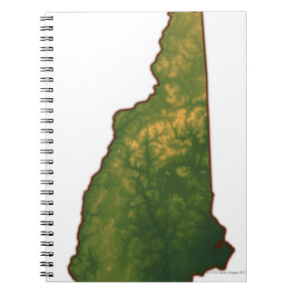 Map of New Hampshire 2 Spiral Notebook