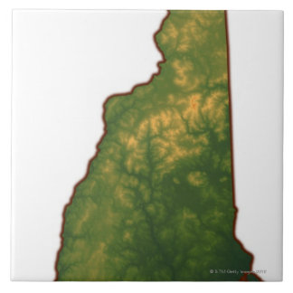 Map of New Hampshire 2 Tile