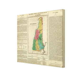 Map Of New Hampshire Canvas Print