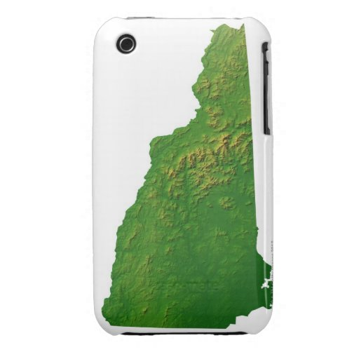 Map of New Hampshire Case-Mate iPhone 3 Cases