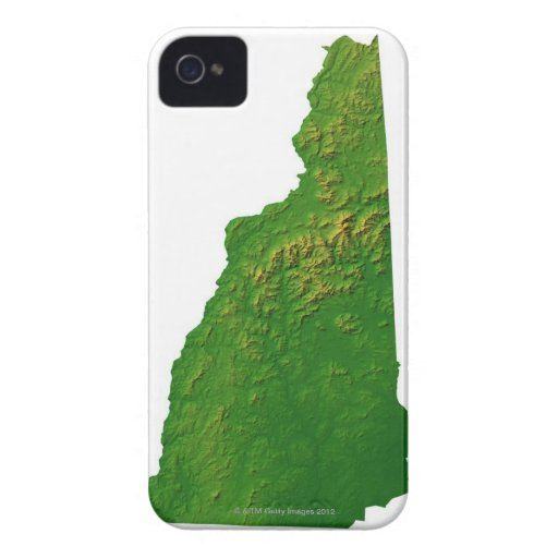 Map of New Hampshire Case-Mate iPhone 4 Case