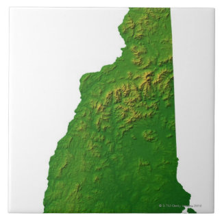 Map of New Hampshire Ceramic Tile