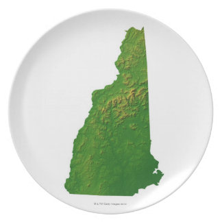 Map of New Hampshire Dinner Plates
