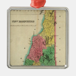 Map Of New Hampshire Metal Ornament