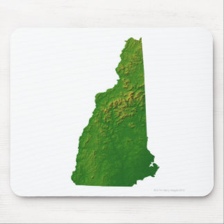Map of New Hampshire Mouse Pad