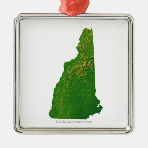 Map of New Hampshire Ornaments