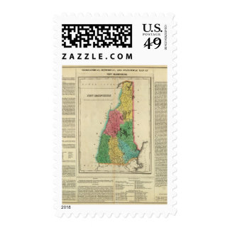 Map Of New Hampshire Postage Stamp