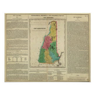 Map Of New Hampshire Print