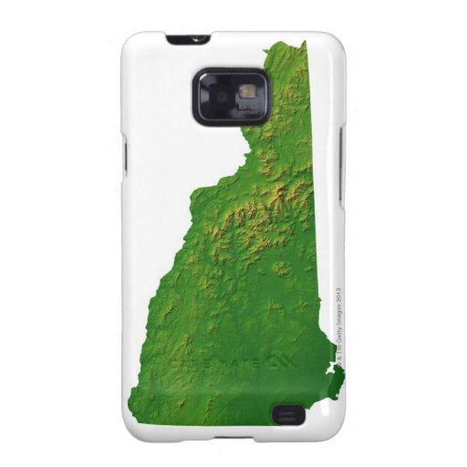 Map of New Hampshire Samsung Galaxy SII Covers