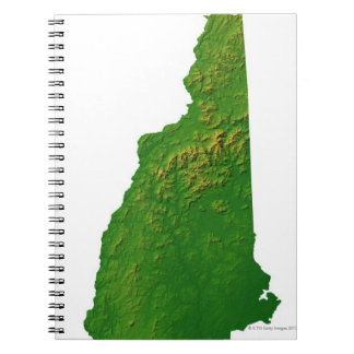 Map of New Hampshire Spiral Notebook