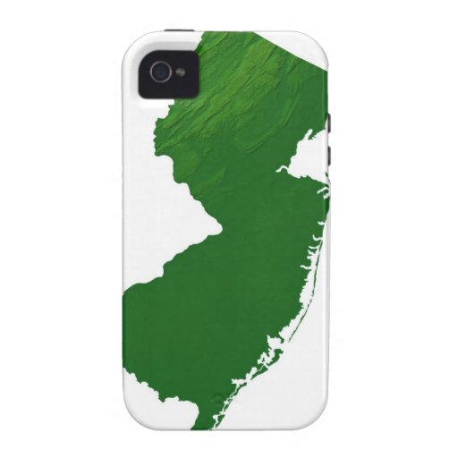 Map of New Jersey 2 iPhone 4 Cover