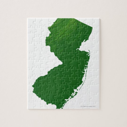 Map of New Jersey 2 Jigsaw Puzzle