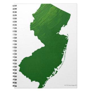 Map of New Jersey 2 Spiral Notebook
