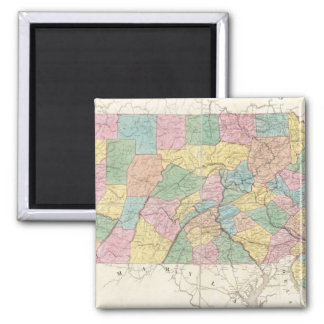 Map of New Jersey And Pennsylvania Magnet