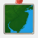 Map of New Jersey Christmas Tree Ornament
