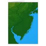 Map of New Jersey Greeting Card