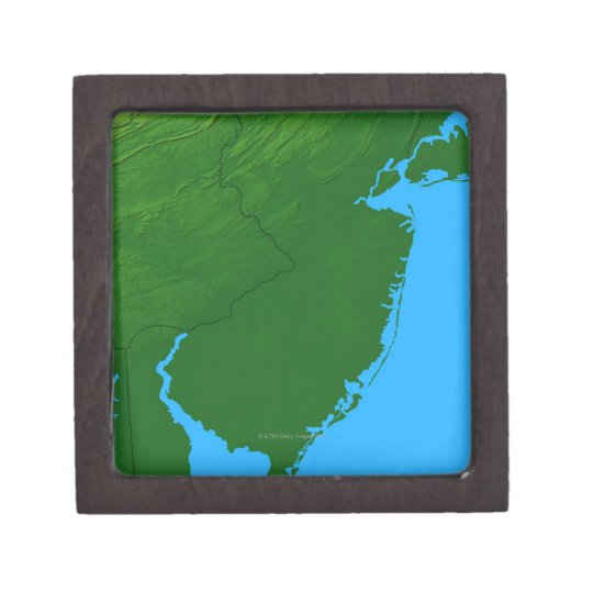 Map of New Jersey Jewelry Box