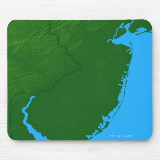 Map of New Jersey Mousepad