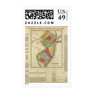 Map Of New Jersey Postage Stamp