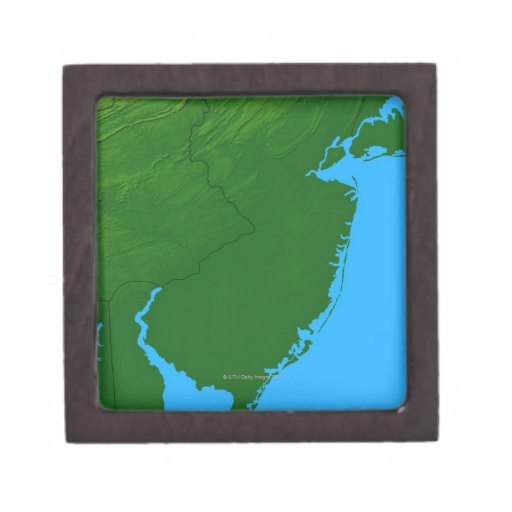 Map of New Jersey Premium Trinket Boxes