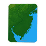 Map of New Jersey Rectangle Magnet