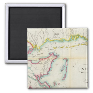 Map of New Orleans and Adjacent Country 2 Inch Square Magnet