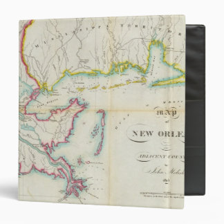 Map of New Orleans and Adjacent Country 3 Ring Binder