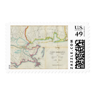 Map of New Orleans and Adjacent Country Postage