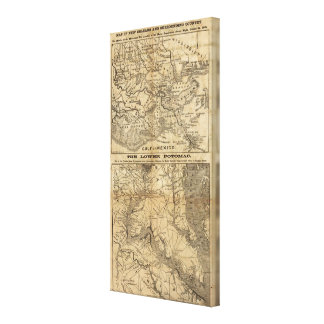 Map of New Orleans and Surrounding Country Canvas Print