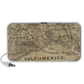 Map of New Orleans and Surrounding Country Notebook Speaker