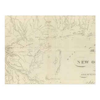 Map of New Orleans Postcard