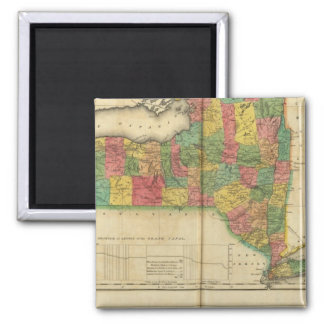 Map Of New York 2 Inch Square Magnet