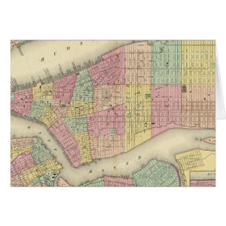 Map Of New York And The Adjacent Cities Greeting Card