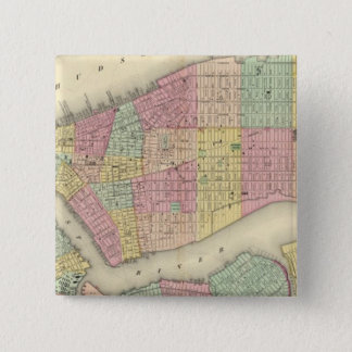 Map Of New York And The Adjacent Cities Pinback Button