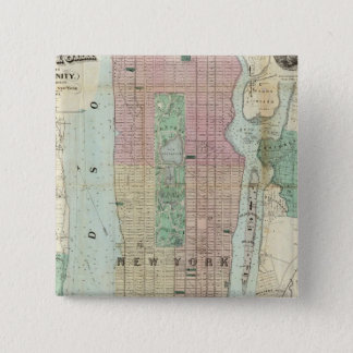 Map of New York and Vicinity Button
