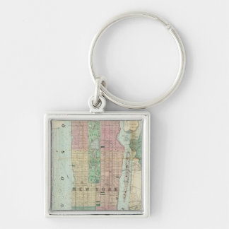 Map of New York and Vicinity Keychain