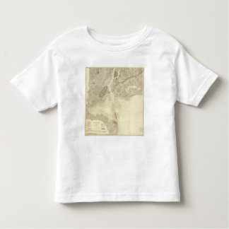 Map of New York Bay And Harbor And The Environs T-shirt