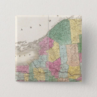 Map of New York Pinback Button