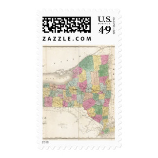 Map of New York Postage