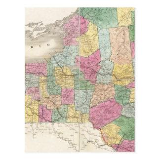 Map of New York Postcard