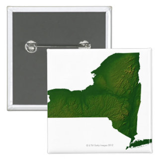 Map of New York State Button